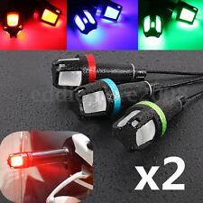 Pair Universal Motorcycle Handle Bar End LED Turn Signal Indicator Corner Lights