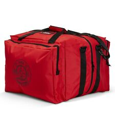 LINE2design Deluxe Step-In Firefighter Gear Bag with Maltese Cross Logo - Red