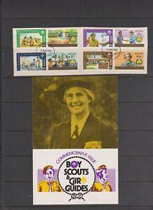 Kenya 1982 Boy Scouts & Girl Guides FU set on piece Ex-FDC & insert per scan