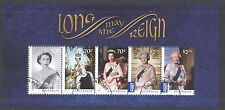 AUSTRALIA 2015 LONG MAY SHE REIGN QE II SOUVENIR SHEET OF 5 STAMPS IN FINE USED