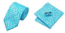 Blue Novelty 100% Silk Classic Mens Necktie Tie Hanky Cufflink Set NT240
