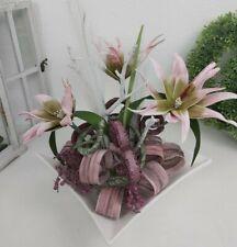 Tischgesteck, Seidenblumengesteck, Kunstblumengesteck, Foamblumen,Tischdeko