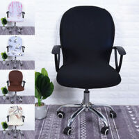 Swivel Computer Chair Cover Stretchy Remove Office Armchair Slipcover Seat Cover