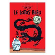 Affiche Offset Tintin Le lotus bleu