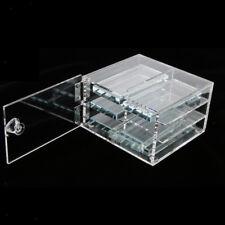 False Eyelash Extension Storage Case Box Organizer w/6pcs Glue Pallet Holder