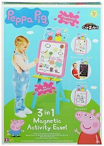 Peppa Pig Deluxe 3 - 1 Magnetic Drawing Activity Easel New Kids Xmas Toy Gift 3+