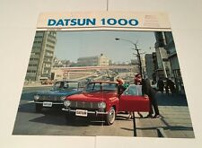 Datsun 1000 German Grade-C Original Car Sales Brochure Folder - 1968 1969