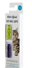Nib Well & Good Cat Nail Caps 40 pcs Purple & Lime Green Pain-free