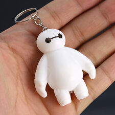 6 Baymax Keychain with Red Light Popular White Big Hero Plastic Kid Children Toy