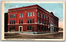 Peace Treaty Building & Navy Yard Portsmouth New Hampshire White Border Postcard