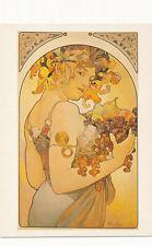 Le Fruit 1897 Fruit Signed PC By Alphonse Mucha Art POSTCARD Magna Edition 1990s