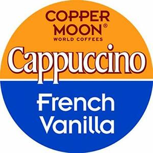 Copper Moon French Vanilla Cappuccino 12 to 96 Keurig K cups Pick Any Size