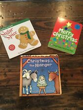 Merry Christmas Touch and Feel Manger Board book lot of 3 scratch sniff