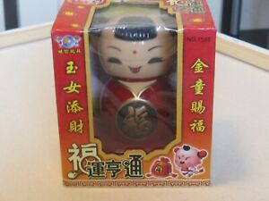 New In Box Solar Powered Bobble head Toy  From Japan Can't read Japanese