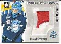 2005-06 ITG Heroes & Prospects Game-Used Emblem Alexandre Vincent Vault 1/1