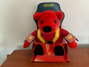 Licensed Ferrari 2000 Red ROSSO Bear Electronic Plush Soft Toy by Mattel