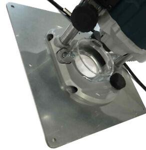 Einlegeplatte Stahl Platte verzinkt für Bosch Kantenfräse GKF 600