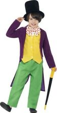 Kids Willy Wonka Costume Roald Dahl Fancy Dress Boys Ages 7-12 Years