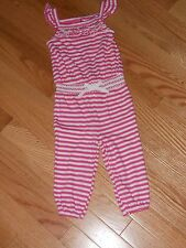 Nwt - Ralph Lauren white & pink striped one pc pants outfit - 12 mos girls