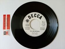 SMALL FACES ALL OR NOTHING UNDERSTANDING DECCA 12470 JUKE BOX ITALY STICKER