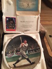 "Babe Ruth ""The Called Shot"" Numbered Plate + Baseball Card Vintage 1992 Mint!"