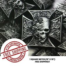Square Meter 19 X 78 Hydrographics Film Water Transfer Printing Film Hydro Dipping Dip Film Hydrographic Film Hydro Dip Octi Skulls Film