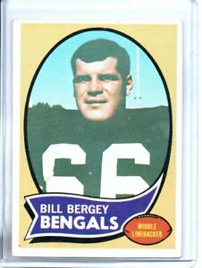 1970 TOPPS BILL BERGEY ( EXMT OR BETTER )