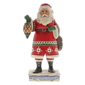 Jim Shore Delivering December Santa With Lantern and Toybag 4058790 MIB