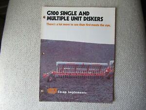 CO-OP Implements G100 diskers plow brochure