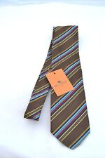 ETRO Designer Krawatte corbata TIE Tuch Seide NEU brand NEW with tags diagonal