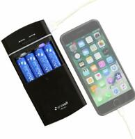 Battery Operated Portable Power Bank USB Charger AA AAA Rechargeable Batteries -