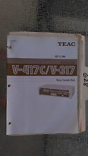 Teac v-417c 317 owners manual original book stereo tape deck cassette player