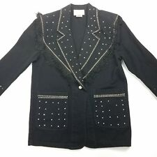 Tarra Womens Size Small Western Jacket USACountry Singer Sparkles Fringe Cosplay