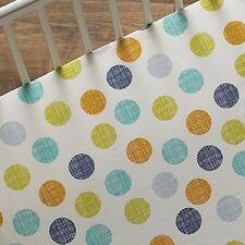 Lolli Living Baby Bot Dot Fitted Crib or Toddler Bed Sheet Geo Polka Dot Unisex
