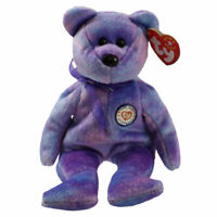 TY Beanie Baby - CLUBBY 4 the Bear (Silver Button) (8.5 inch) -MWMTs Stuffed Toy