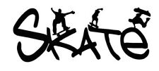 Skateboarding Skater Wall Decal Teen / Childs Bedroom Black Apx 1.51' X 1.41'