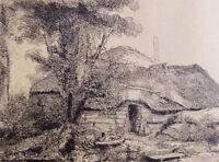 Hauptblätter graphischer Kunst Nr. 85 nach Rembrandt DIE HÜTTE UNTER DEM BAUM