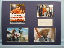 "John Wayne in ""The Comancheros"" and Nehemiah Persoff autograph as Graile"