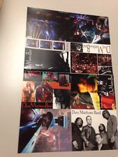 Uncut Sheet of Dave Matthews Band Members Warehouse Fan Club Postcards