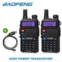 2x Baofeng UV-5RTP Dual Band + 1* USB Cable Tri-Power 1/4/8W Ham Two-way Radio