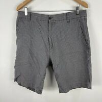 Rodd & Gunn Mens Shorts 92 Grey Bermuda Checkered Pockets W34