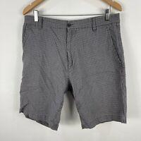 Rodd & Gunn Mens Shorts 92 Grey Bermuda Checkered Pockets W34