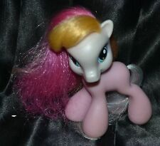 "4"" My Little Pony Toola Roola Pink Body Blue Head Paint Brush Artist Ponies 2008"