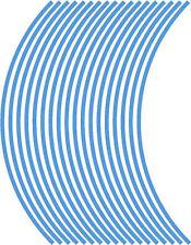 5mm wheel rim tape striping stripes stickers L BLUE..(38 pieces/9 per wheel)