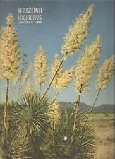 1948 JANUARY ARIZONA HIGHWAYS POTTERY IDA REDBIRD THE SALT BOOTHILL GRAVEYARD