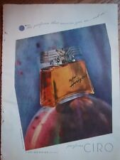 Collectibles Candid 1938 Vintage Parfums Ciro Danger Perfume Bottle Full Page Ad