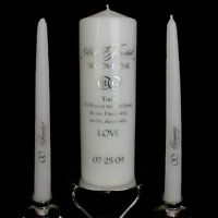 'Two Become One' Personalized Unity Candle :: Wedding Candle :: Ceremony Candles