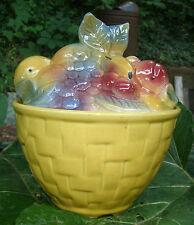 vintage 1950s Fruit Basket Cookie Jar Shawnee Pottery -kirchenware,rare item