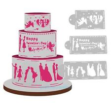 4pcs LOVE Cake Stencil Set Wedding Cake Decoration Sugarcraft Fondant Mold Tools