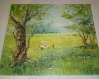Impressionist Golfing Oil Painting Abstract Original Davidson Golf Course Art